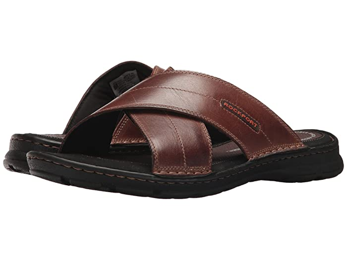 Rockport  Darwyn Cross Band (Coach Brown Leather) Mens Sandals