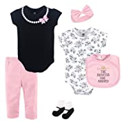 Hudson Baby Unisex Baby Cotton Layette Set, Princess, 6-9 Months