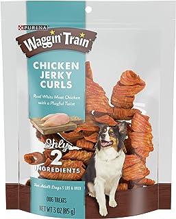 Purina Waggin` Train Chicken Jerky Curls Adult Dog Treats - (6) 3 oz. Pouches