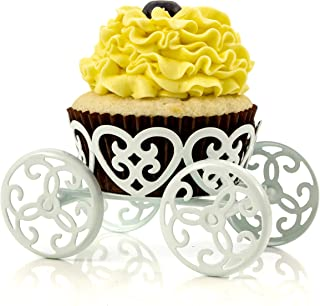4-Pack Single Count Princess Carriage Cupcake Stand Holder Display by Cooking Upgrades