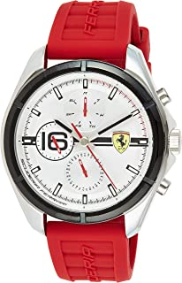 Scuderia Ferrari Men's Analogue Quartz Watch with Silicone Strap 0830783