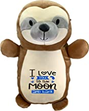 Squishmallow I Love You to The Moon and Back! Pre-Customized Original Kellytoy Squishmallow Plush Toy Stuffed Animal Pet Pillow Birthday Gift (Hug Mees Sloth 14