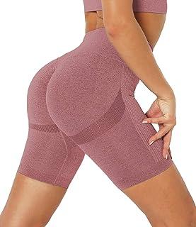 2 in 1 a vita alta La Dearchuu yoga palestra Pantaloncini sportivi da donna asciugatura rapida fitness per allenamento