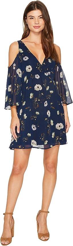 BB Dakota - Rylie Cold Shoulder Printed Dress