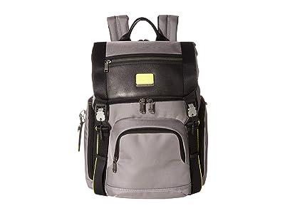 Tumi Alpha Bravo Lark Backpack (Grey/Bright Lime) Backpack Bags