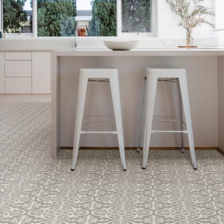 Buy FloorPops FP9 Medina Peel & Stick Floor tile, Grey, 9 ...