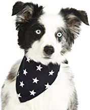 Pet Pooch Boutique Star Bandana for Dog, Small/Medium, Navy Blue