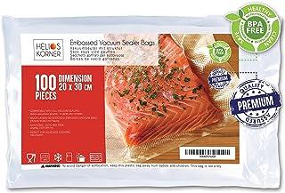 comprar comparacion Bolsas de Vacío Para Alimentos, 20x30cm | 100 Bolsas | Bolsas de vacío gofradas para Conservación y Cocción Sous Vide Coci...