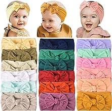 Best 18PCS Baby Nylon Headbands Hairbands Hair Bow Elastics for Baby Girls Newborn Infant Toddlers Kids Review