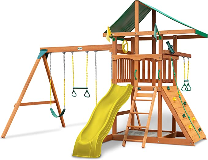 Gorilla Playsets 01-1064-Y Outing Wood Swing Set - Best Quality