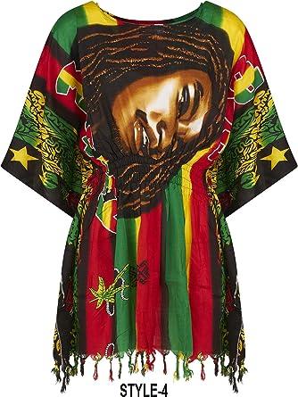 Camisas de cuello redondo Bob Marley para mujer estilo ...