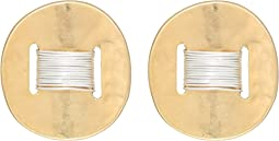 Robert Lee Morris - Two-Tone Wire Wrap Clip On Earrings