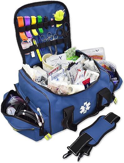 Lightning X Stocked Large EMT Medic Trauma Bag w/Emergency Medical Fill Kit Supplies