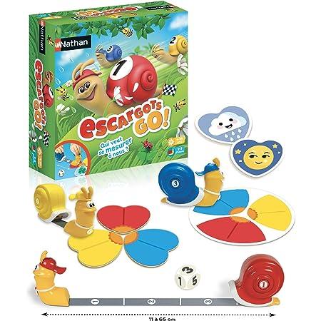 Nathan Les Escargots Go Jeu De Societe Pour Enfant Des 4 Ans Avec 2 Modes De Jeu Amazon Fr Jeux Et Jouets