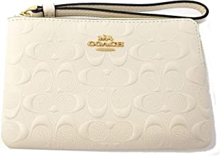 F67555 Signature Leather Corner Zip Wristlet