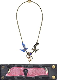 Party City Descendants 3 Audrey Jewelry Halloween Accessories, Includes Bird Necklace and Pink and Black Wrist Cuff
