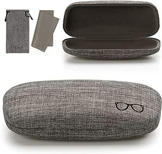 Vemiss Hard Shell Eyeglasses Case Soft Linen Fabrics Portable Glasses Sunglasses Box