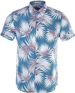 Men's Hedgeog Short Sleeve Palm Print Shirt