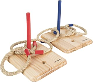 Triumph Premium Wooden Quoit Set - Includes 2 Targets and 6 Sisal Rope Rings