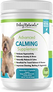 Daily Anxiety Support for Dogs - Separation Anxiety for Dogs, Travel, Groomers, Fireworks & Barking - Valerian Root and L-...