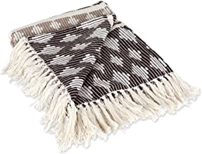 DII Classic Colby Southwest Cotton Handwoven Stripe Blanket Throw with Fringe for Chair, Couch Picnic, BBQ, Camping, Beac...
