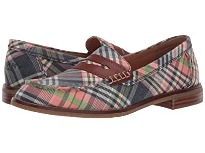 Sperry Seaport Washed Plaid Penny Loafer (Kick Back Plaid) Women