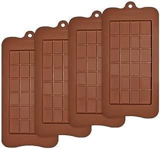 HomEdge - Juego de 4 moldes de silicona antiadherente para barras de energía y proteínas de grado alimenticio