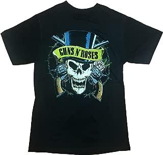 Guns N Roses GNR Distressed Men's Guns and Skulls T-Shirt