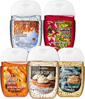Bath and Body Works FALL TRADITIONS Mini Gift Set Hand Sanitizer Pack of 5-1 oz each