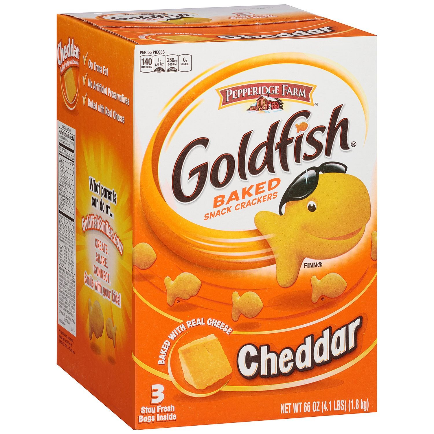 Pepperidge Farm store Goldfish Cheddar Baked Crackers oz. 66 Snack Max 74% OFF 3