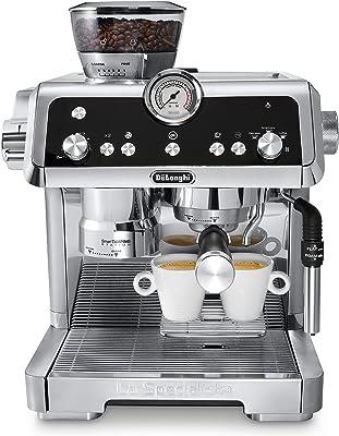 De'Longhi La Specialista Espresso Machine with Sensor Grinder, Dual Heating System, Advanced Latte System & Fancy Collection Double Walled Thermo Espresso, Cappuccino and Latte Macchiato Glasses