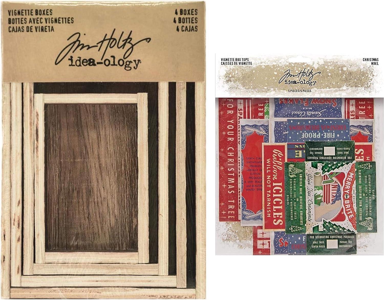 Tim Excellent Holtz Idea-Ology 2020 Over item handling ☆ 4 Vignette Boxes Christmas