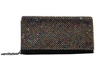 Jessica McClintock Luisa Flap Clutch (Oil Slick) Handbags