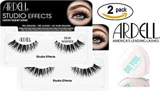 Ardell Professional STUDIO EFFECTS Custom Layered Lashes, 2-pack (with Sleek Compact Mirror) (Demi Wispies (2-pack))