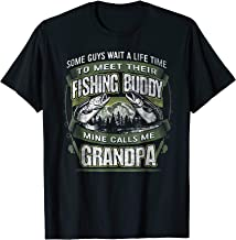 Mens My Fishing Buddy Call Me Grandpa Shirt Fishing Grandpa Shirt
