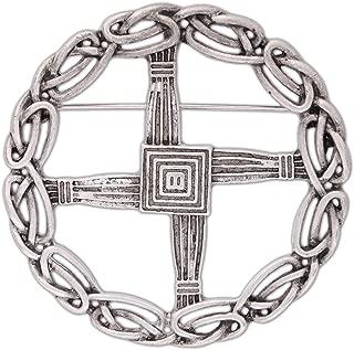 Quantum Mfg Pewter St. Bridget's Cross Pin/Pendant
