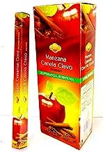 Incienso Manzana - Canela- clavo ( 3 en uno) 6 paquetes de 20 varillas/u, un total de varillas para la Esperanza y la fortuna