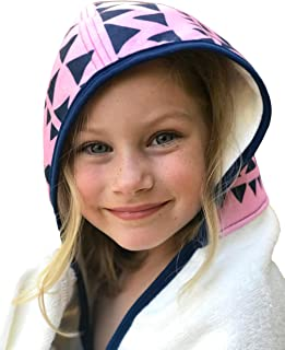 Kids Hooded Bath Towel | Extra Soft & Thick 500 GSM Bamboo Terry | Hypoallergenic & Eco-Friendly | Extra Large Toddler to Kids Bath Towel with Hood for Girls After Bath, Beach, Pool, or Swim