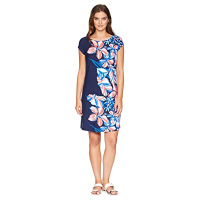 Tommy Bahama Le Tigre Floral Cap Sleeve Dress (Ocean Deep) Women