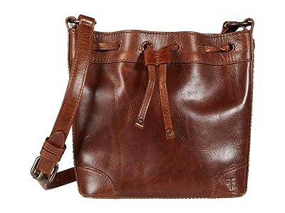 Frye Melissa Drawstring Bucket Crossbody (Cognac) Handbags
