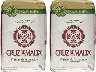 YERBA MATE CRUZ de MALTA 2.2lb 1 kilo (Pack Of 2)