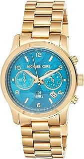 ساعة هانجر ستوب 100 للنساء من مايكل كورس - انالوج وسوار مصنوع من ستانلس ستيل - MK5815