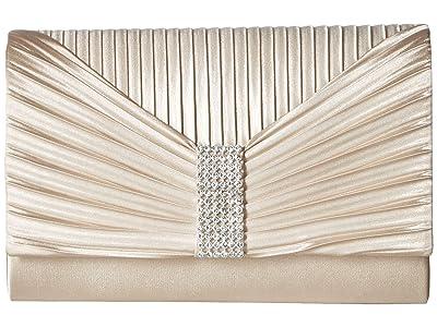 Jessica McClintock Alexis Clutch (Champagne) Clutch Handbags