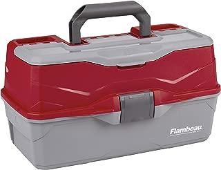 Flambeau Outdoors 6383TB 3-Tray - Classic Tray Tackle Box - Red/Gray