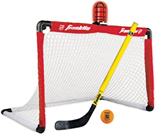 Franklin Sports Mini Hockey Goal and Stick - NHL - 36 x 24 Inches - Light Up Set Includes Adjustable Hockey Stick and Ball (Renewed)