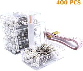 Firefly 400 Pcs White Color Straight Pins 1.5