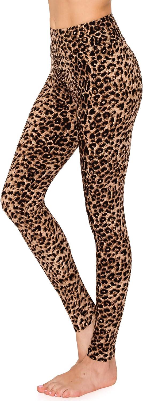 ALWAYS Women's Print Pattern Leggings - Premium Soft Stretch Peach Skin Yoga Pants