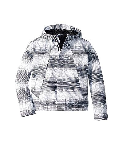 The North Face Kids Precita Rain Jacket (Little Kids/Big Kids) (TNF White/Distressed Stripe Print) Girl
