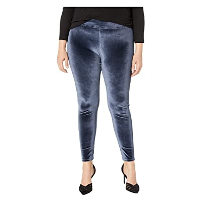 HUE Plus Size Velvet Leggings (Twilight) Women