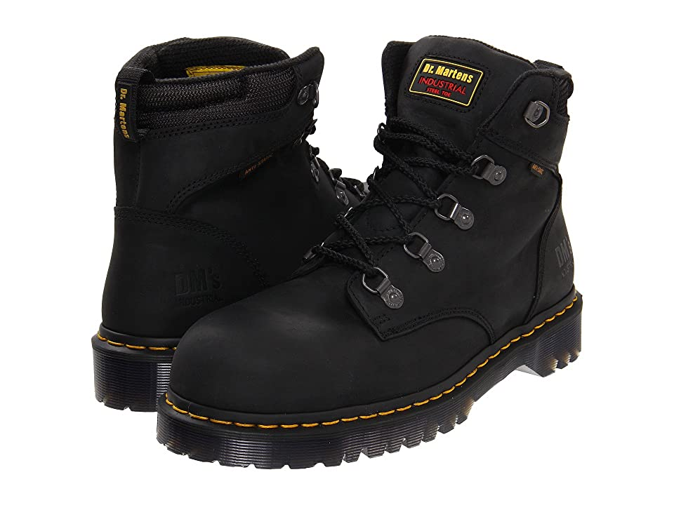 Dr. Martens Holkham SD (Black Industrial Greasy) Men